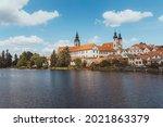 telc in summer  old town. czech ...   Shutterstock . vector #2021863379