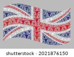 mosaic cattle waving united... | Shutterstock .eps vector #2021876150