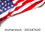 american flag on white... | Shutterstock . vector #202187620