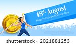 illustration of indian javelin... | Shutterstock .eps vector #2021881253