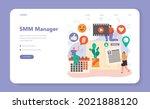 smm social media marketing web... | Shutterstock .eps vector #2021888120