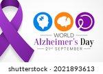 world alzheimer's day is... | Shutterstock .eps vector #2021893613
