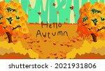 hello autumn landscape... | Shutterstock .eps vector #2021931806