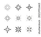sunburst. linear sparkling sun  ...   Shutterstock .eps vector #2021951663