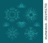 sunburst. linear sparkling sun  ... | Shutterstock .eps vector #2021951753