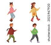 cartoon set of cute kids in...   Shutterstock .eps vector #2021967920