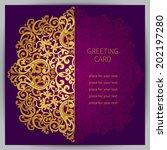 vintage ornate cards in... | Shutterstock .eps vector #202197280