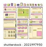 web ui. 90s layout screen...