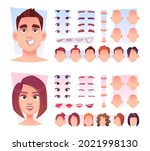 male face constructor. man face ... | Shutterstock .eps vector #2021998130