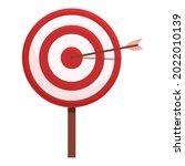 arrow target icon cartoon...   Shutterstock .eps vector #2022010139