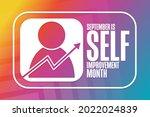 september is self improvement... | Shutterstock .eps vector #2022024839