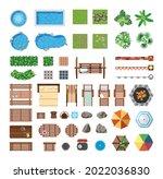 set of items for recreation on... | Shutterstock .eps vector #2022036830