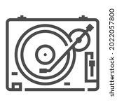 record player icon  square line ... | Shutterstock .eps vector #2022057800