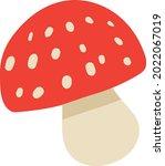 amanita poisonous mushroom...   Shutterstock .eps vector #2022067019