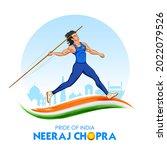 illustration of indian javelin... | Shutterstock .eps vector #2022079526