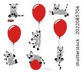 collection of cute cartoon...   Shutterstock . vector #2022085706
