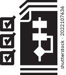 plan icon vector. work icon...   Shutterstock .eps vector #2022107636