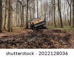 Dump Truck Car Stuck In Mud On...
