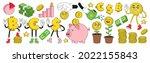 financial literacy. money ...   Shutterstock .eps vector #2022155843