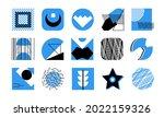 design shapes pattern set...   Shutterstock .eps vector #2022159326