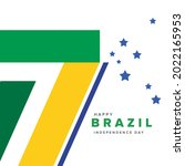 brazil independence day poster... | Shutterstock .eps vector #2022165953