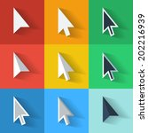 flat style vector cursors with... | Shutterstock .eps vector #202216939