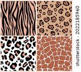 a set of seamless wild animal... | Shutterstock .eps vector #2022185960