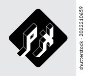 p and x   monogram or logotype. ... | Shutterstock .eps vector #2022210659