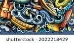 water sports hand drawn doodle... | Shutterstock .eps vector #2022218429