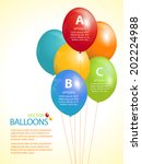 balloon infographic vector... | Shutterstock .eps vector #202224988