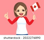 young pretty first nation... | Shutterstock .eps vector #2022276890