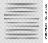 transparent divider shadows....   Shutterstock .eps vector #2022317339