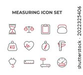 measuring set icon  isolated...