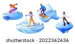 people engage winter sport... | Shutterstock .eps vector #2022362636