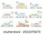 municipal services or city... | Shutterstock .eps vector #2022370673
