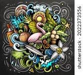 bahamas cartoon vector doodle... | Shutterstock .eps vector #2022373556