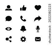 set of generic social media...