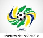 creative elegant football... | Shutterstock .eps vector #202241710