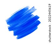 blue acrylic brush stroke... | Shutterstock . vector #2022445619