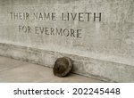 ww1   stone of remembrance with ... | Shutterstock . vector #202245448