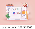business strategy. landing page ...   Shutterstock .eps vector #2022458543