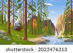 summer landscape in a national...   Shutterstock .eps vector #2022476213