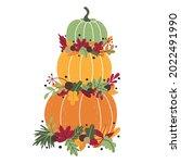 traditional autumn tall...   Shutterstock . vector #2022491990