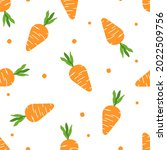 seamless pattern with carrot...   Shutterstock .eps vector #2022509756