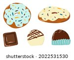 a collection of chocolates  a...   Shutterstock .eps vector #2022531530