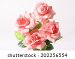pink colorful textile rose...   Shutterstock . vector #202256554