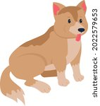 mixed breed dog adoption semi...   Shutterstock .eps vector #2022579653