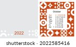 fashionable desktop calendar...   Shutterstock .eps vector #2022585416