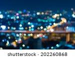 bangkok cityscape at twilight...   Shutterstock . vector #202260868