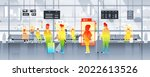 detecting elevated body... | Shutterstock .eps vector #2022613526